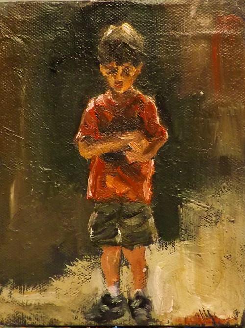 """A BOY"" original fine art by Run-      Zhang Zane"