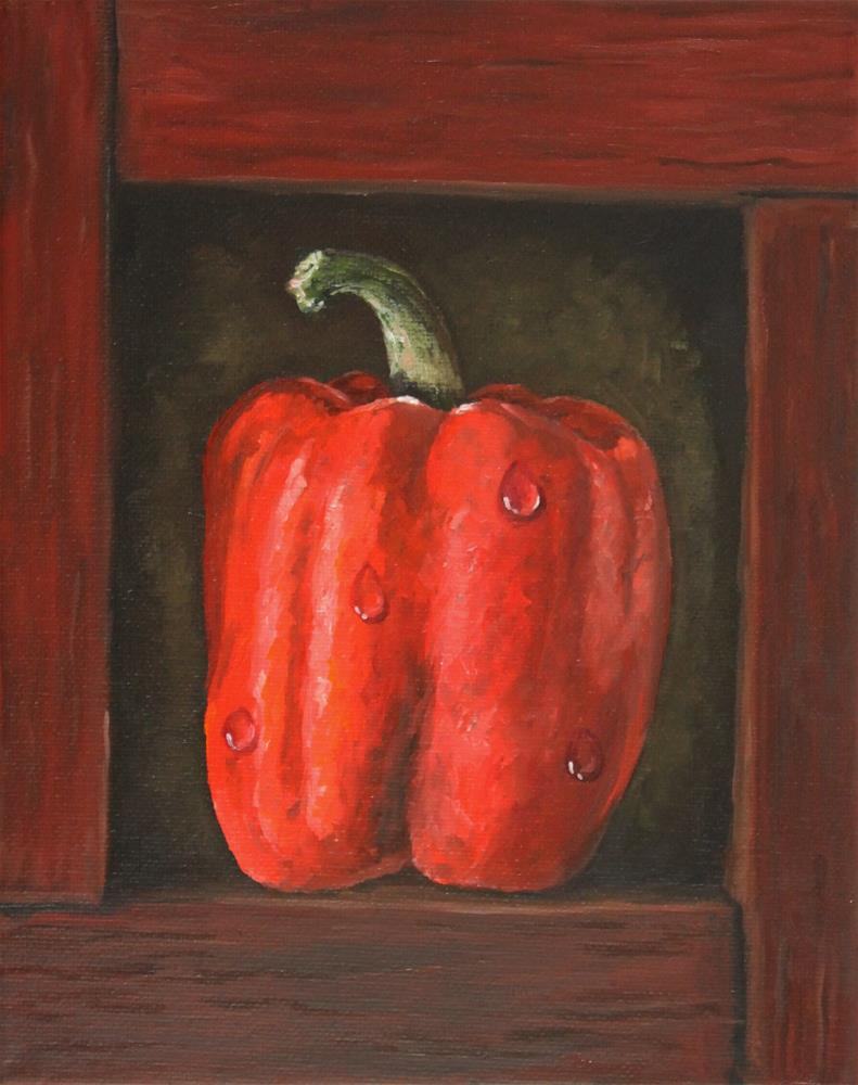 """Red Pepper In A Box"" original fine art by Bob Williams"