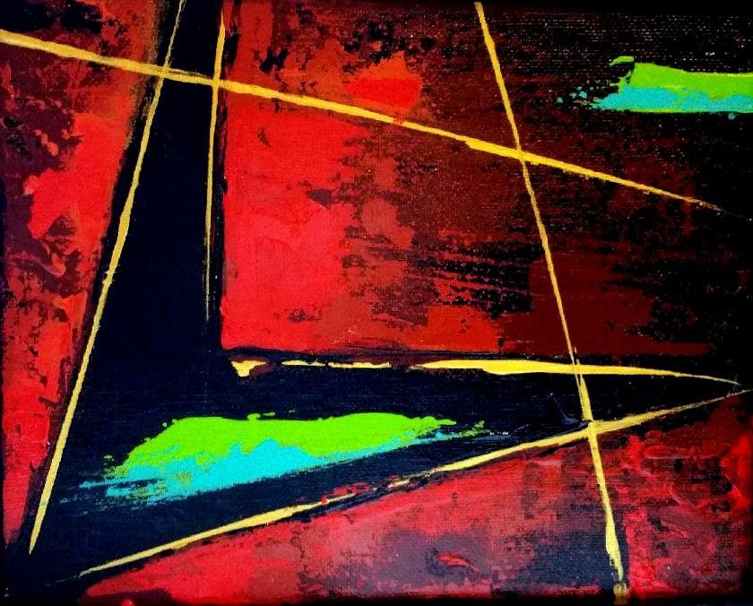 """""""Twisted Chevron"""" original fine art by Stuart Glazer"""