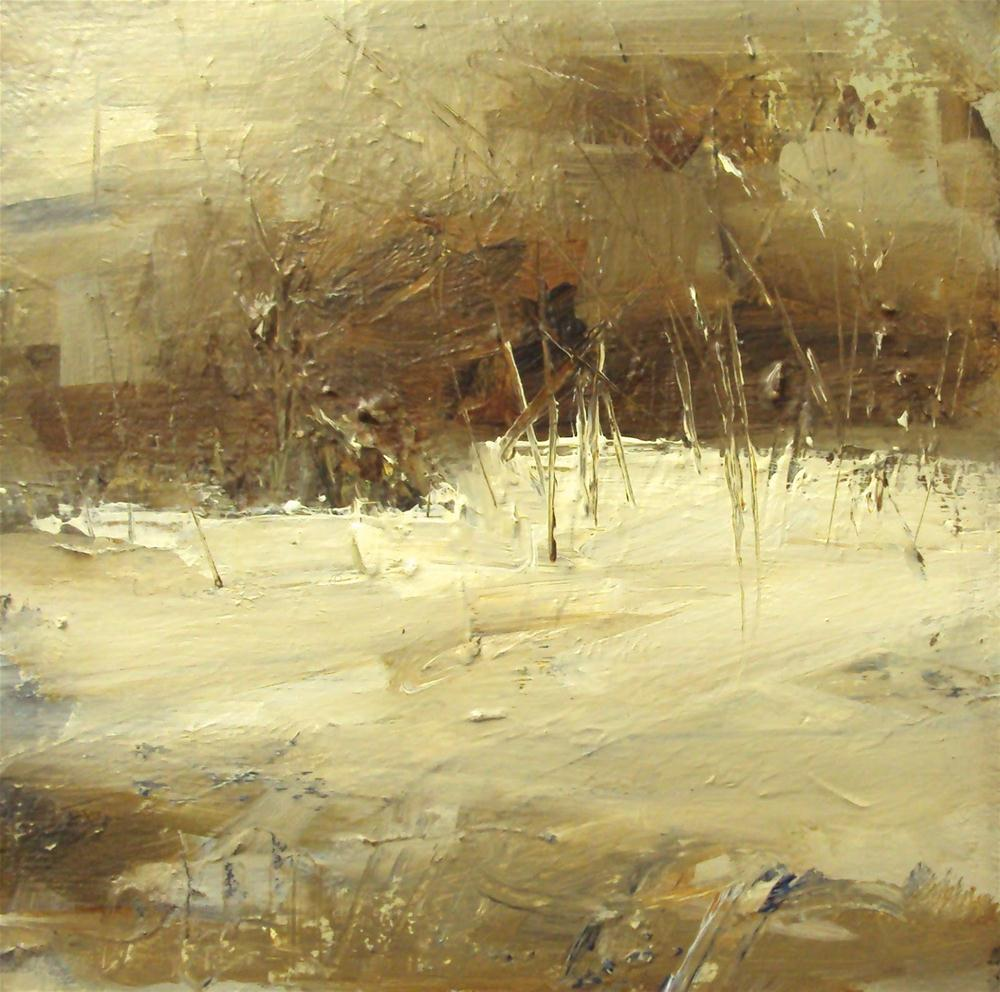 """snow breeze"" original fine art by Parastoo Ganjei"