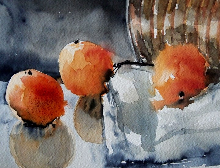 """Three Oranges"" original fine art by Amy Bryce"