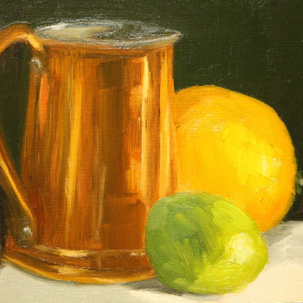 """Copper Tankard"" original fine art by Jane Frederick"
