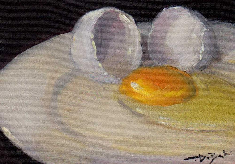 """egg"" original fine art by V. DeBak"