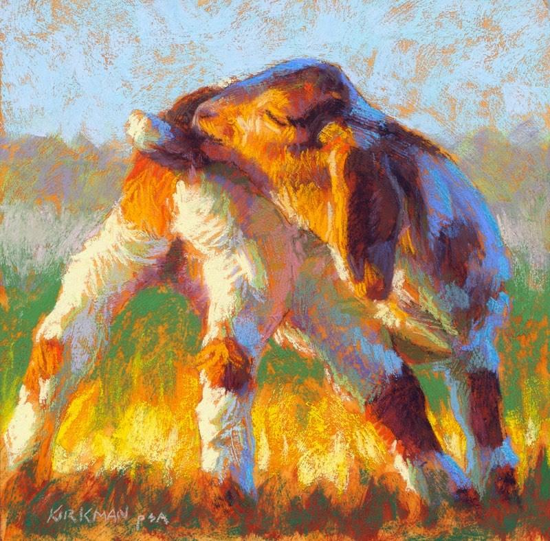 """Patches"" original fine art by Rita Kirkman"