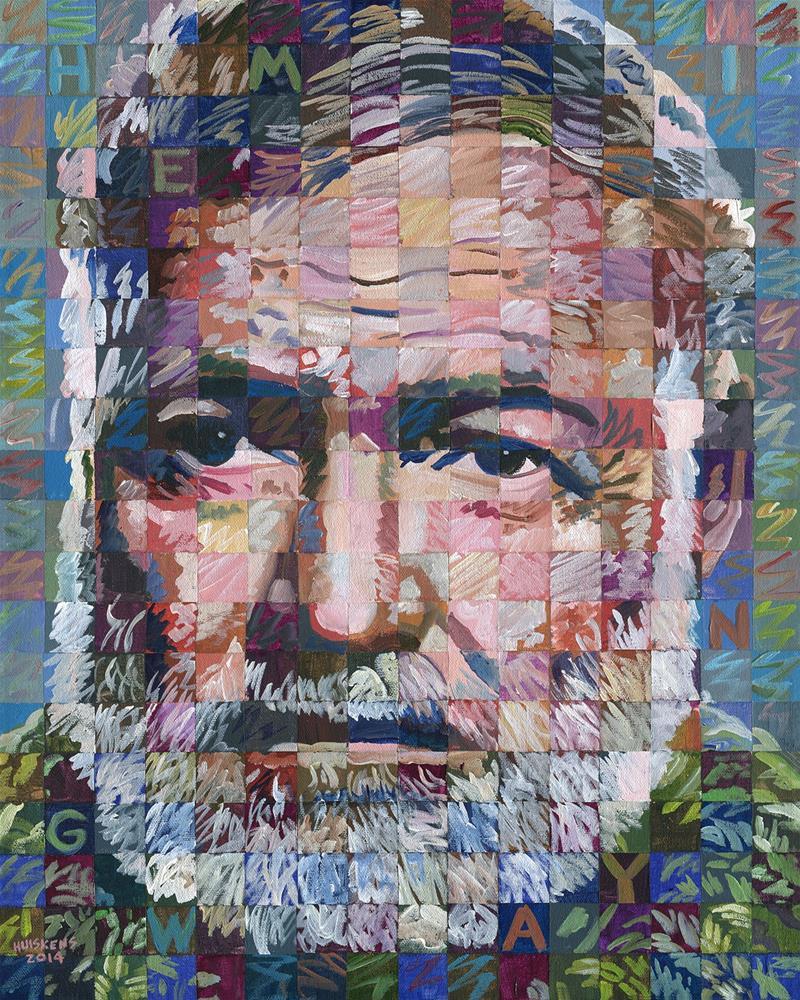 """Ernest Hemingway"" original fine art by Randal Huiskens"