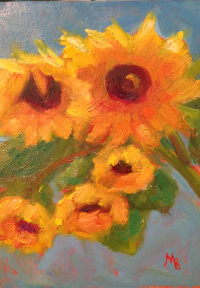 """Tuscan Sunflowers"" original fine art by Marcia Bergtholdt"