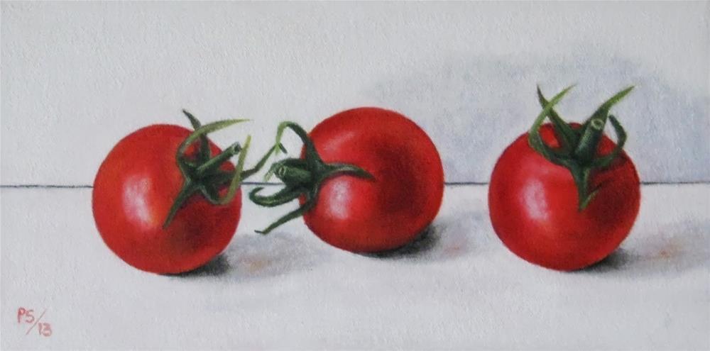 """Campari Tomatoes"" original fine art by Pera Schillings"