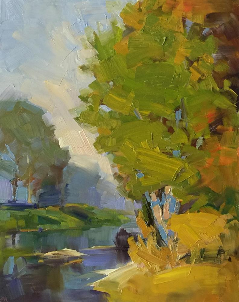 """Fall at Buford Park"" original fine art by Patti McNutt"