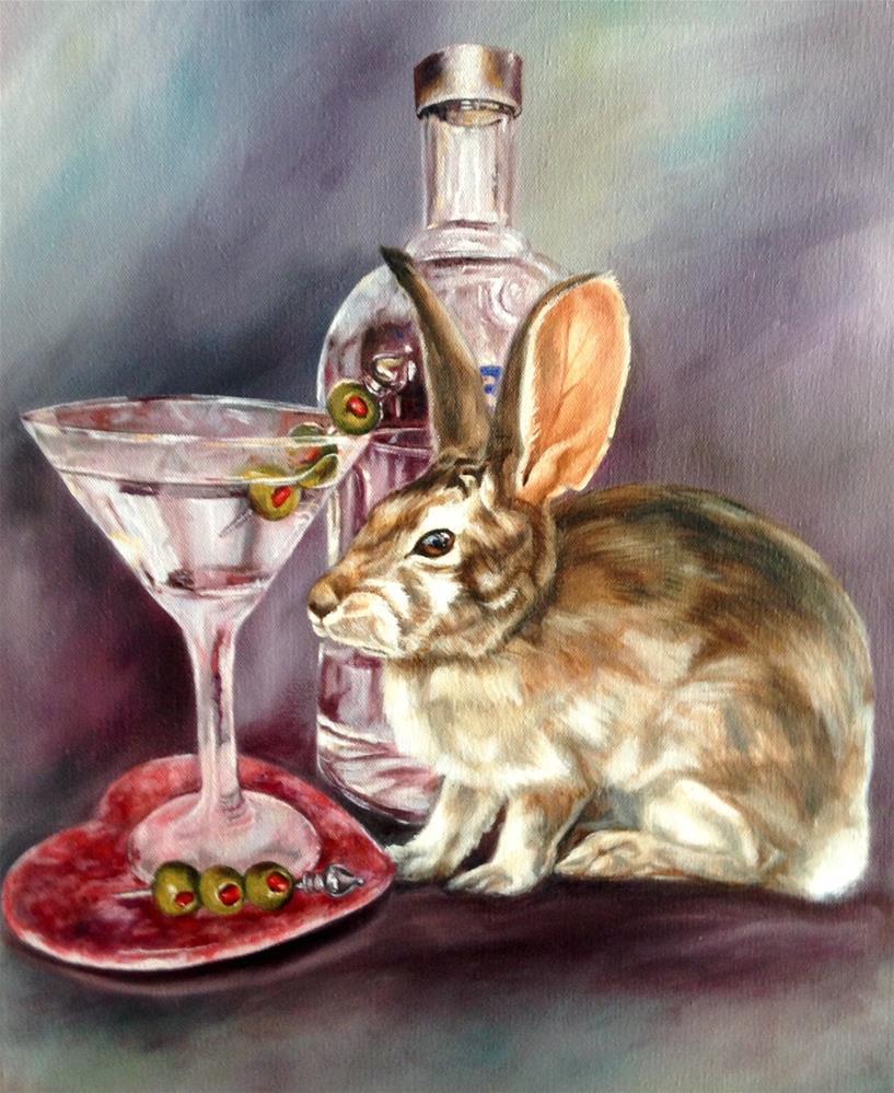 """""""Tini Bunny (c) by Joye DeGoede"""" original fine art by Joye DeGoede"""