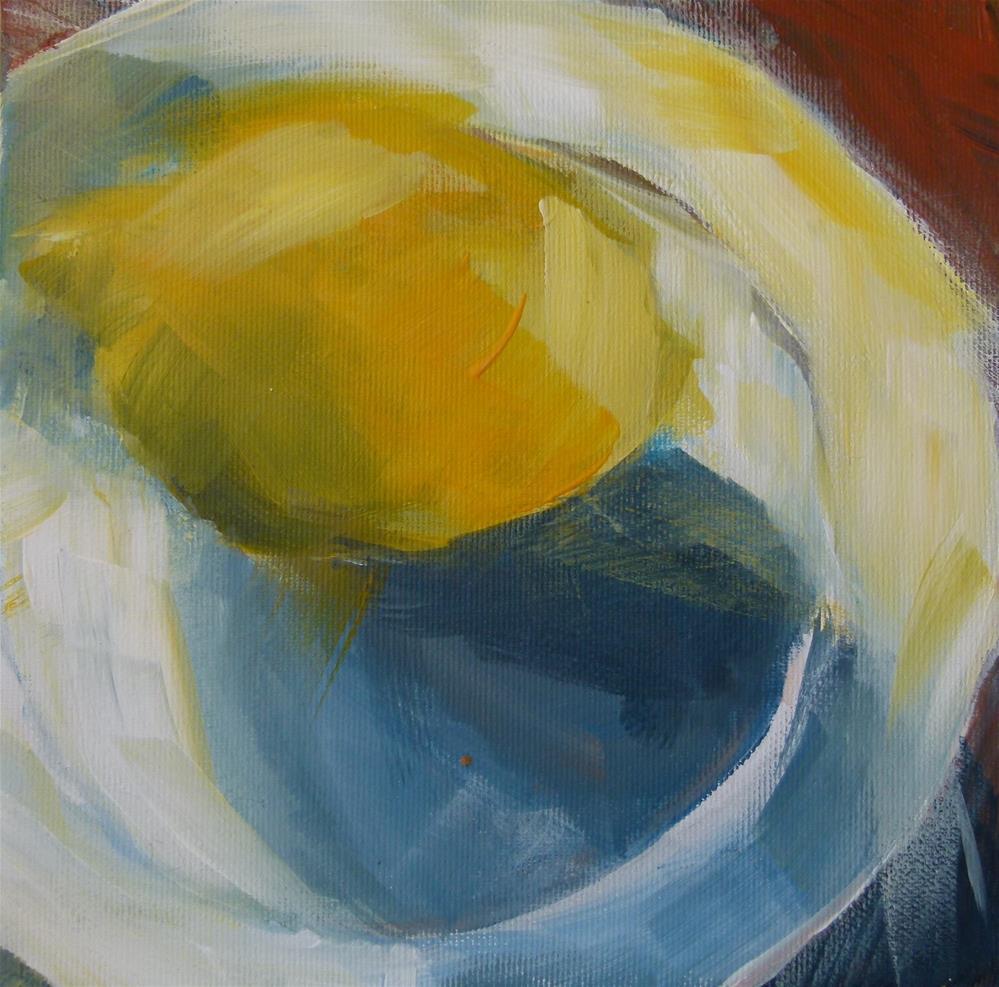 """""""Zitrone auf Mallorca"""" original fine art by Sabine Hüning"""
