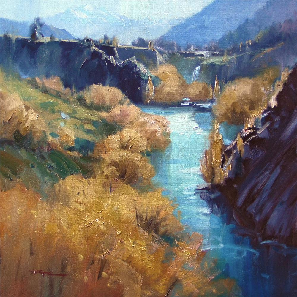 """Kawarau Gorge"" original fine art by Richard Robinson"