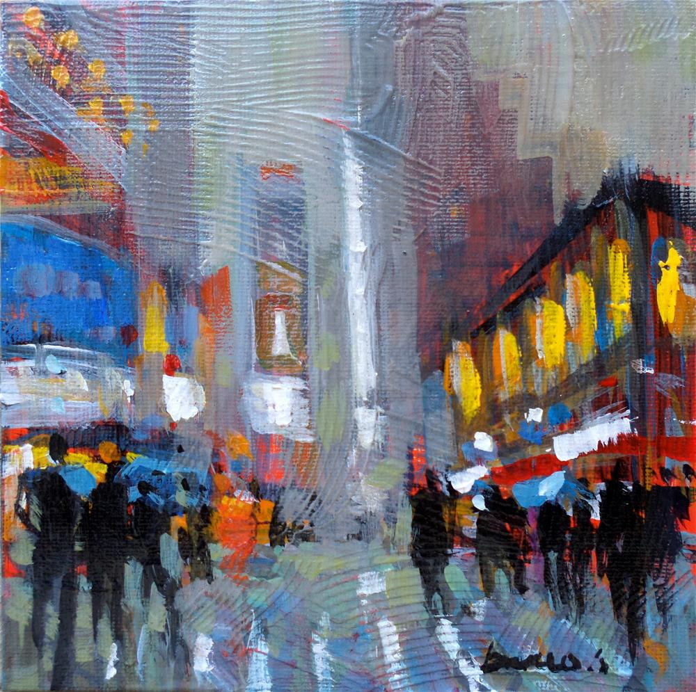 """Fog in new york"" original fine art by salvatore greco"