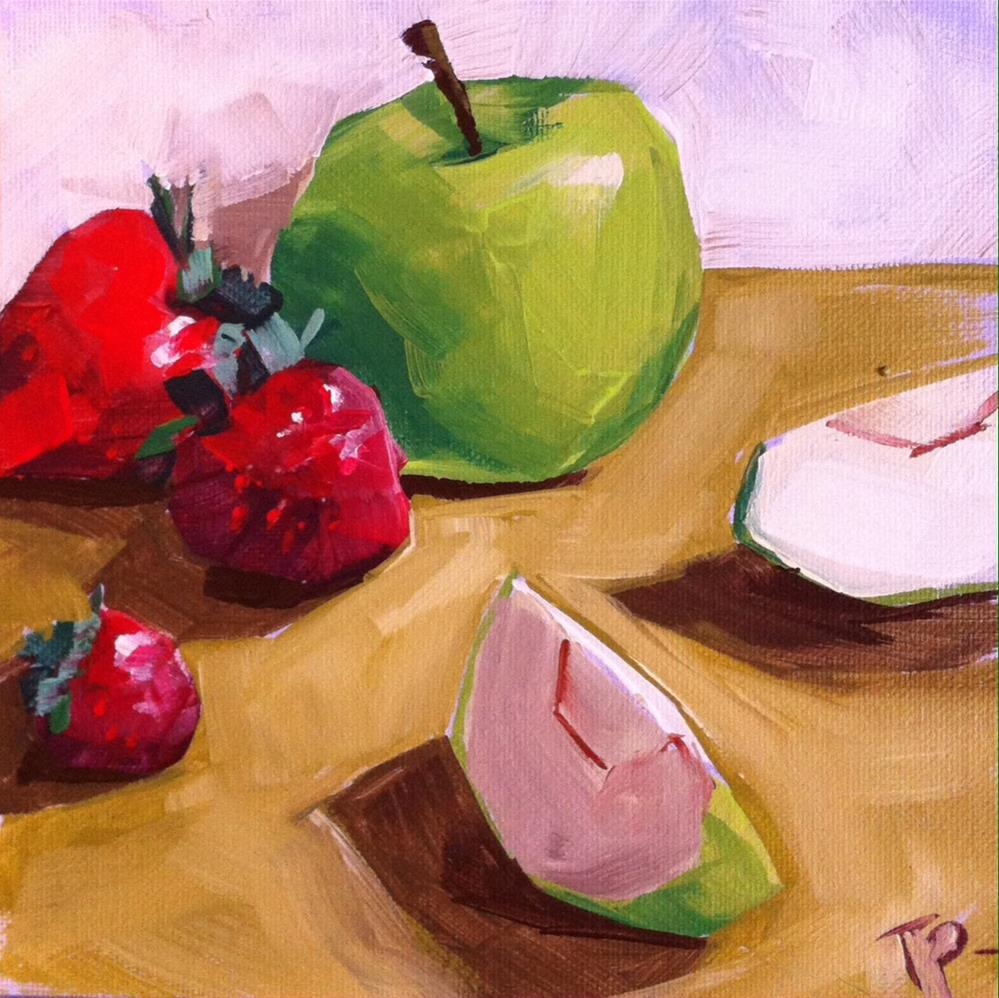 """Christmas Fruit"" original fine art by Teddi Parker"