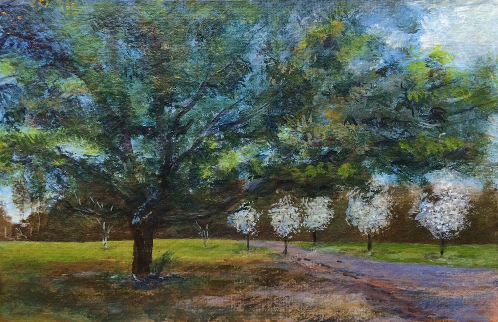 """My Grandfather's Live Oak"" original fine art by Allison Dollar"