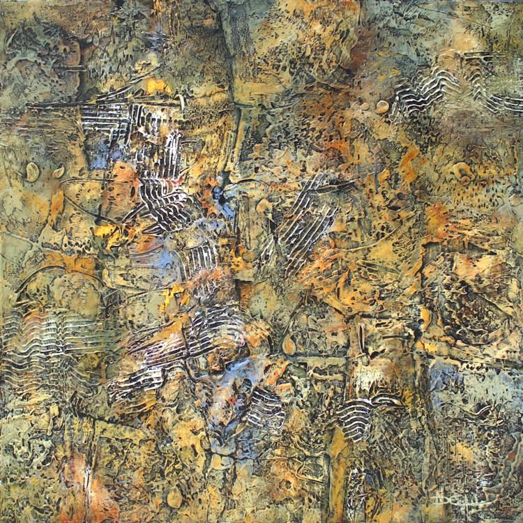 """Organic Ground"" original fine art by Nancy Eckels"