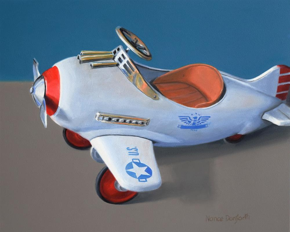 """Vintage Airplane Pedal Car"" original fine art by Nance Danforth"