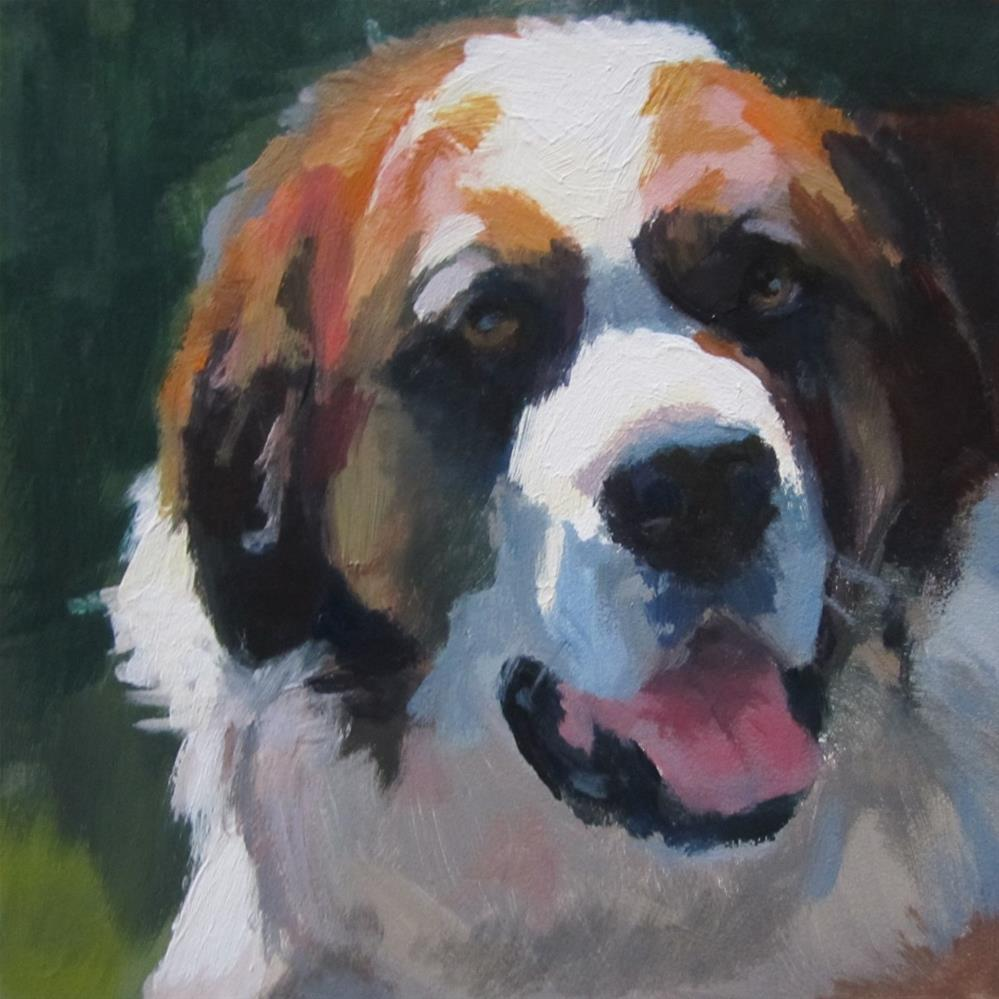 """Saint Bernard"" original fine art by Kaethe Bealer"