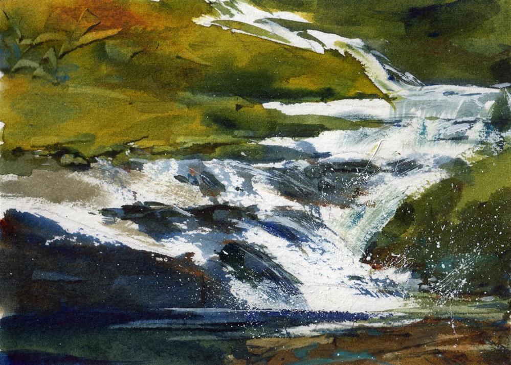 """""""Cool Waters"""" original fine art by Linda Henry"""