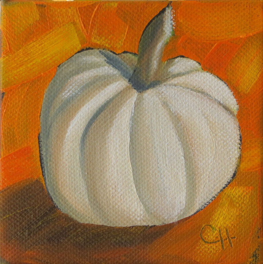 """Little Pumpkin no. 2"" original fine art by Claire Henning"