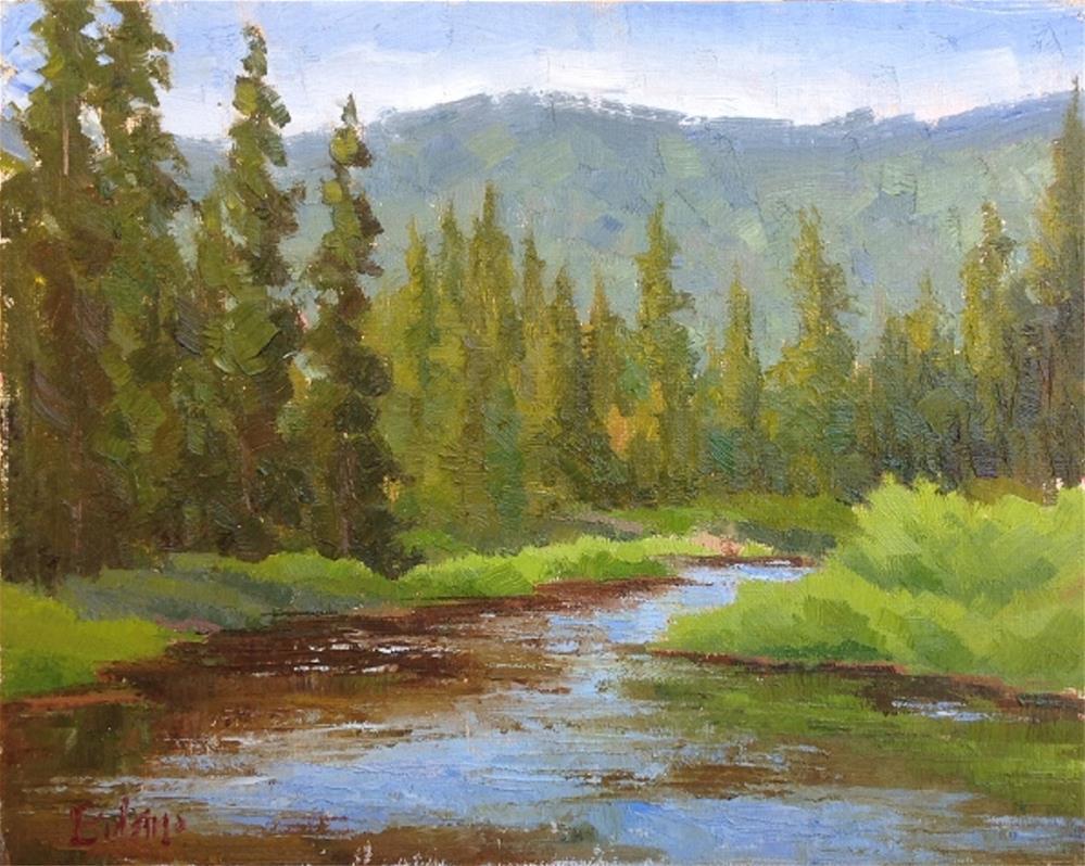 """Truckee River Morning"" original fine art by Mark Bidstrup"