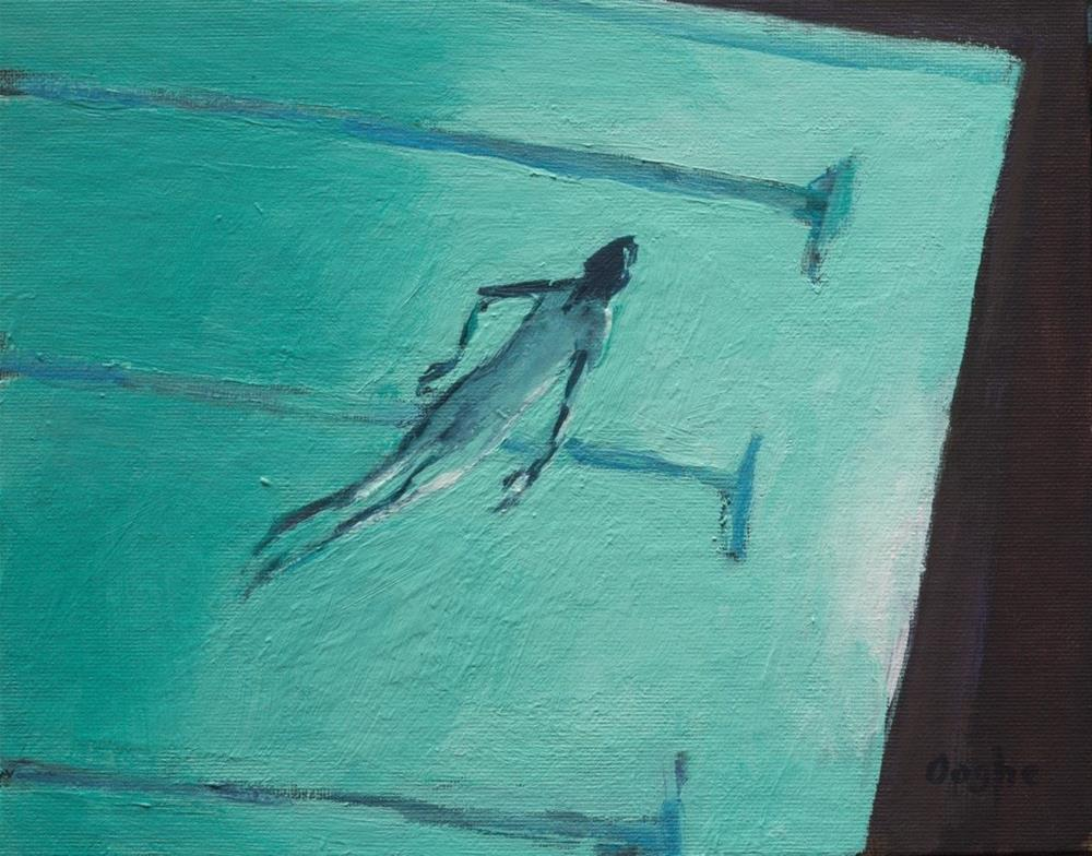 """Night Swim"" original fine art by Angela Ooghe"