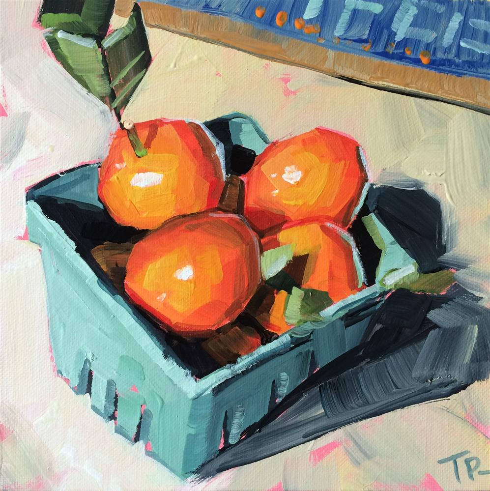 """Market Oranges"" original fine art by Teddi Parker"