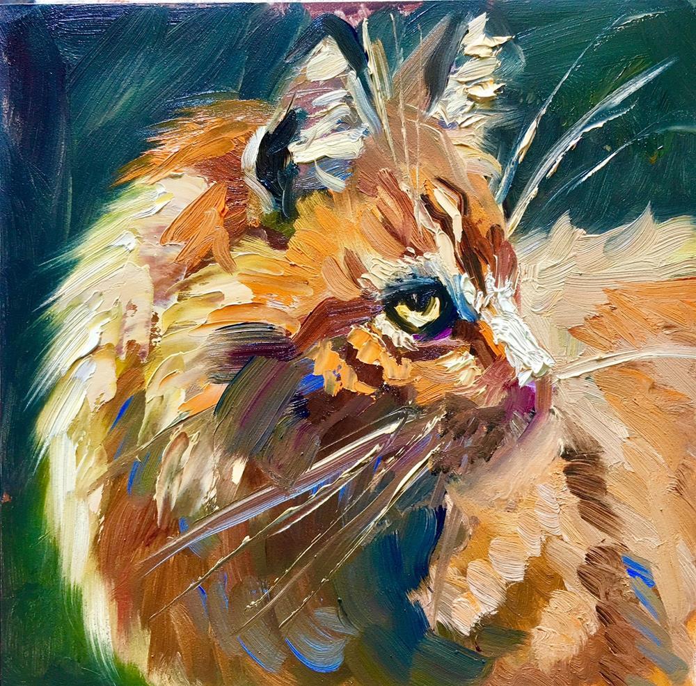 """Orange Kitty by JS Taylor Art"" original fine art by Jennifer Stottle Taylor"