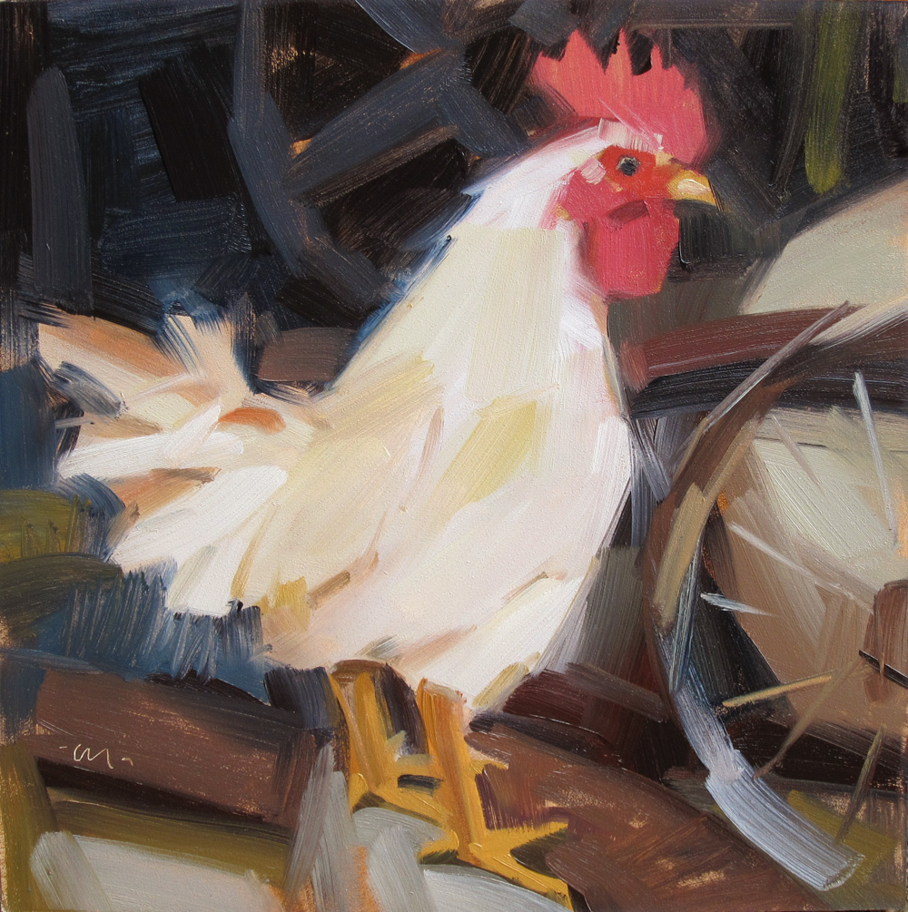 """Crazy Chicken"" original fine art by Carol Marine"