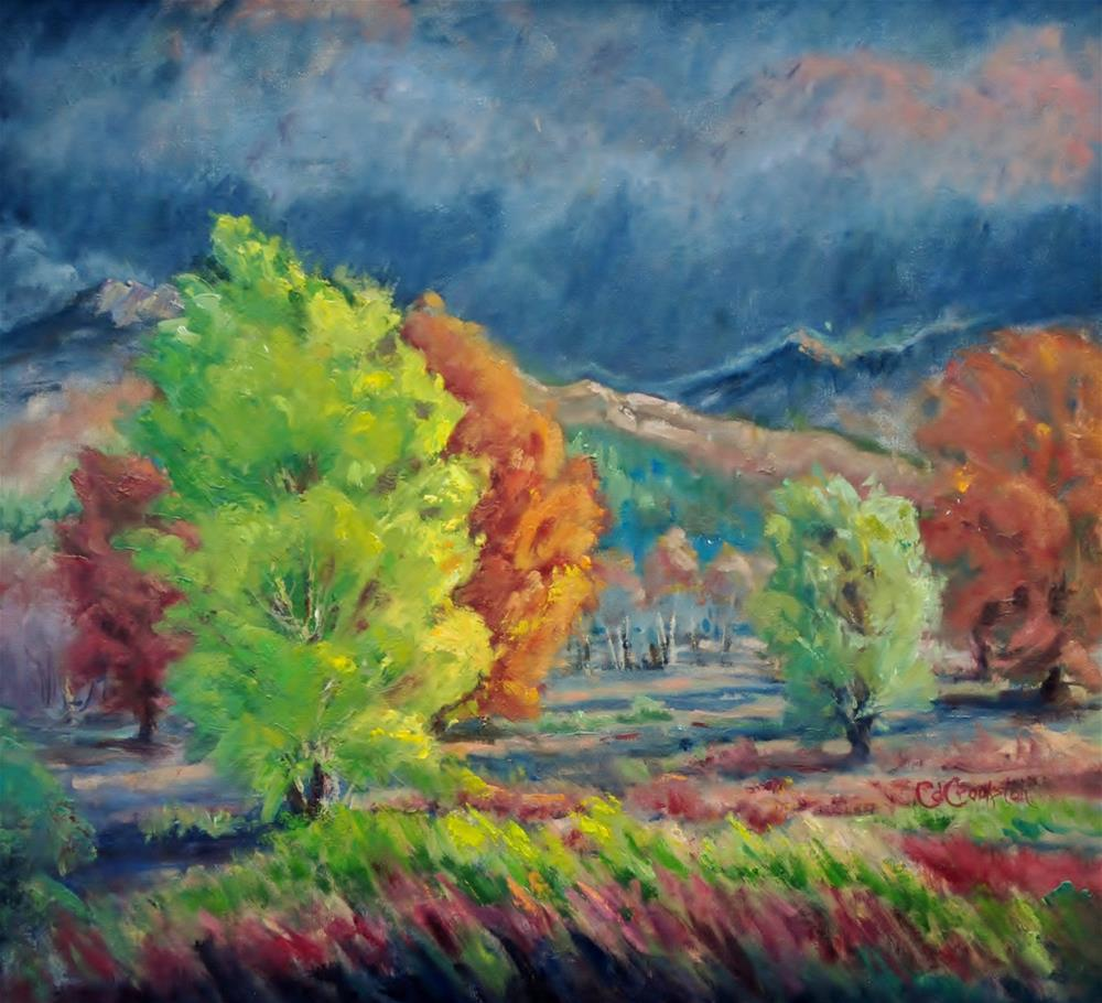 """Stormy Evening"" original fine art by Catherine Crookston"