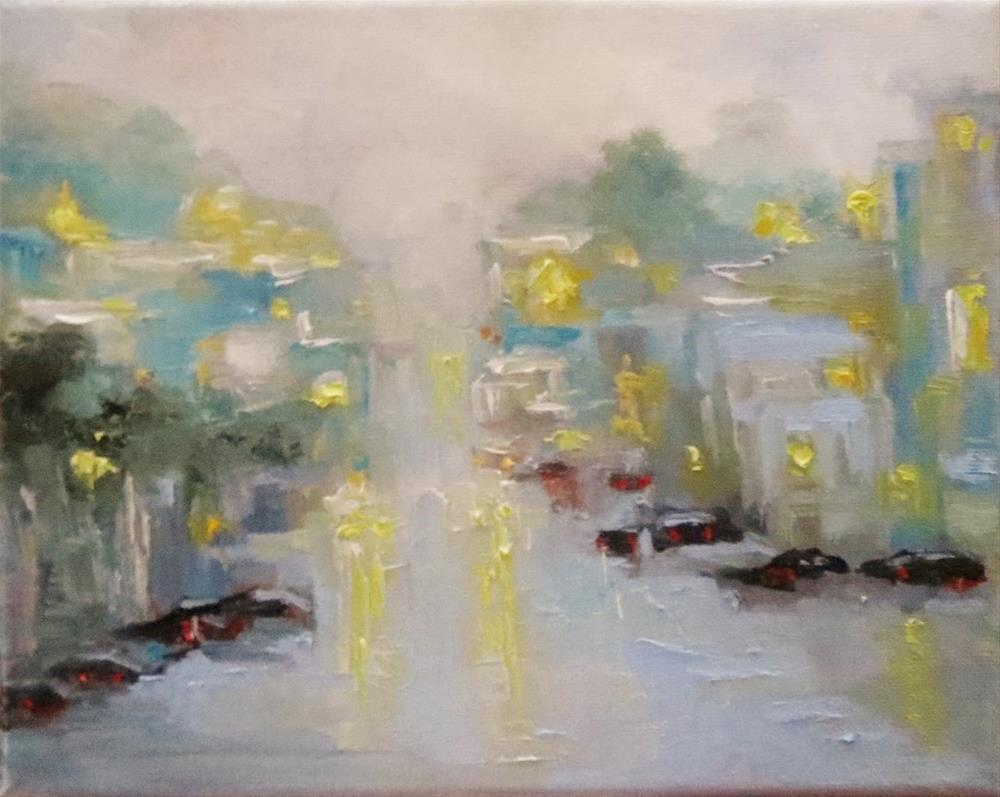 """We Lived There(rainy Cityscape)"" original fine art by Astrid Buchhammer"