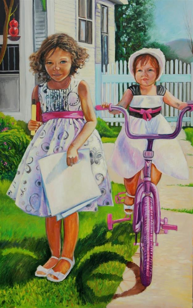 """""""After Church"""" original fine art by Hilary J. England"""