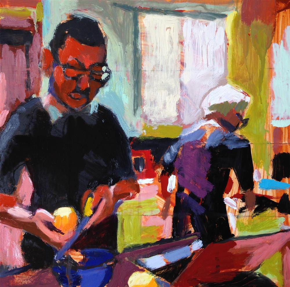 """Making Lemon Tart"" original fine art by Pamela Hoffmeister"