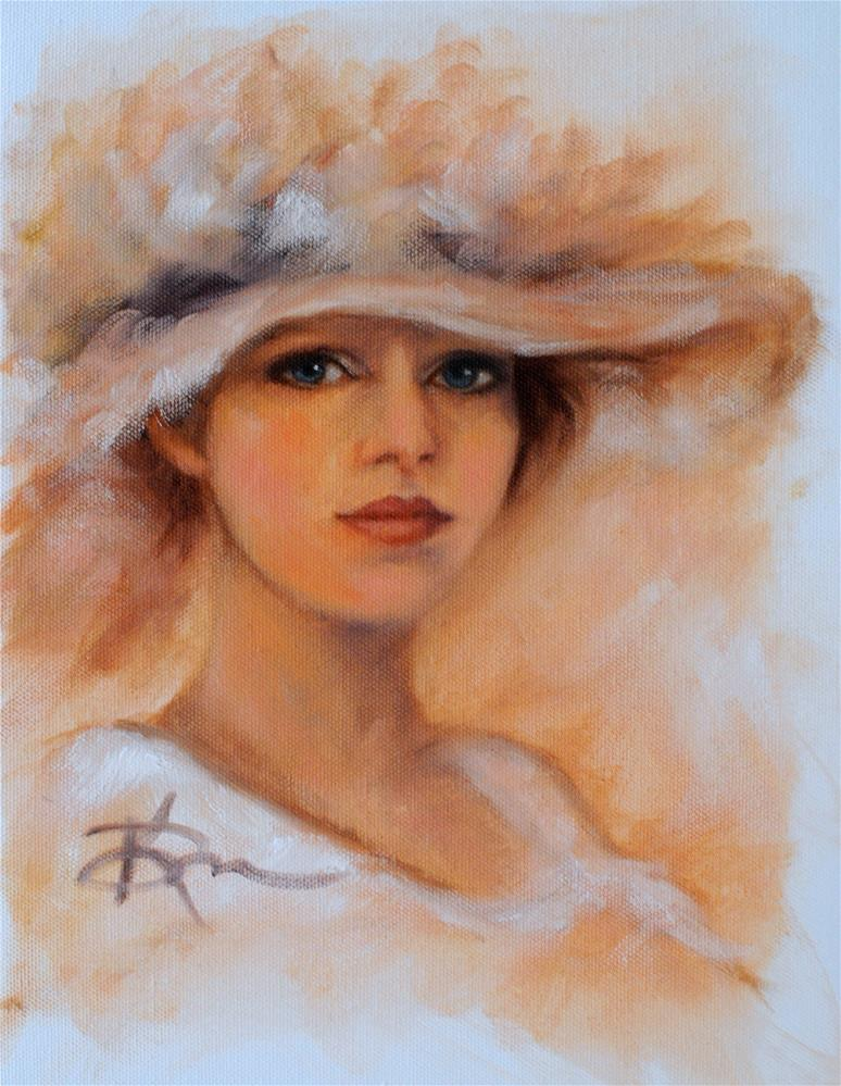 """Sunday's Hat"" original fine art by Kelly Berkey"