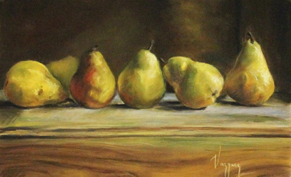 """still life with pears"" original fine art by Marco Vazquez"
