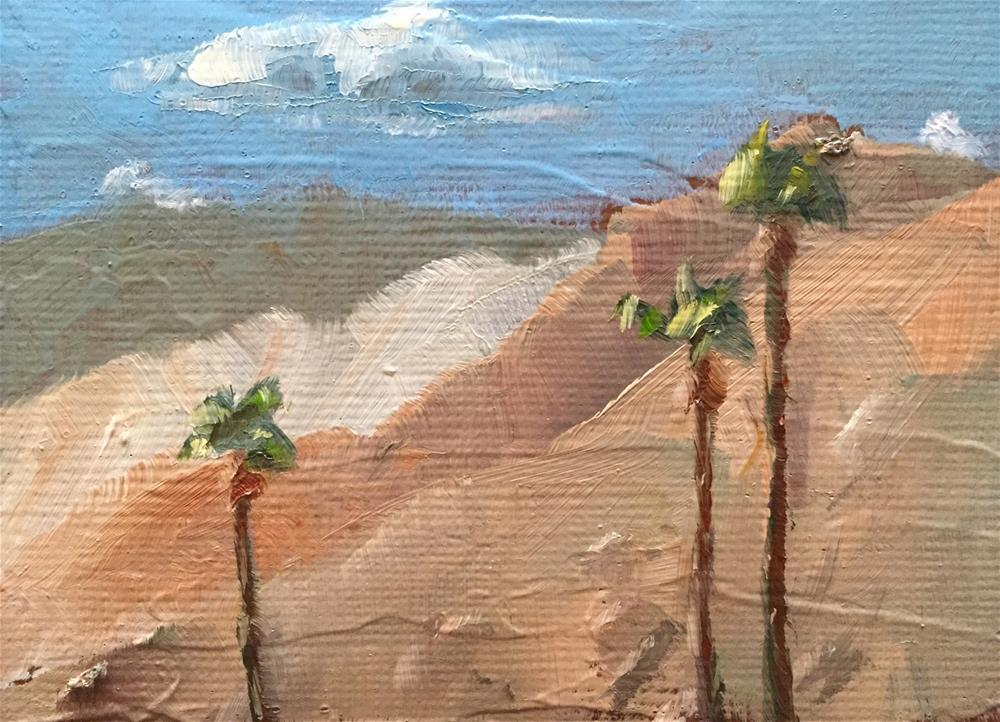"""Palm Springs Mountains"" original fine art by Gary Bruton"