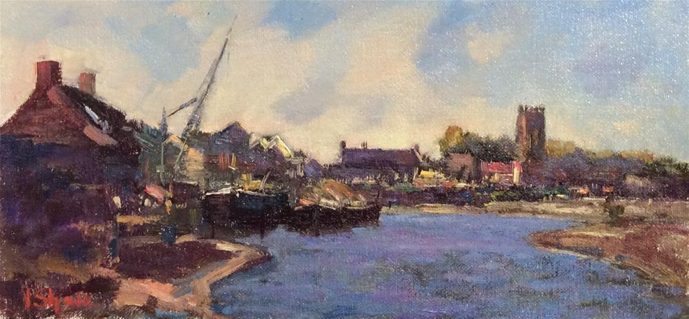 """Last Light Isleworth"" original fine art by John Shave"