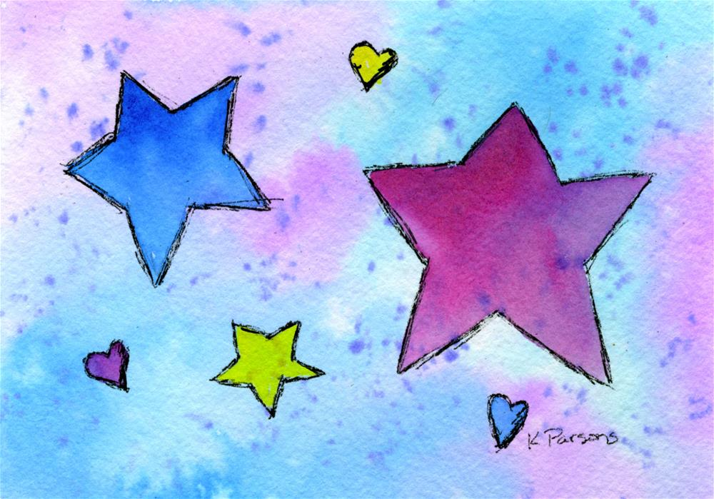 """Stars"" original fine art by Kali Parsons"