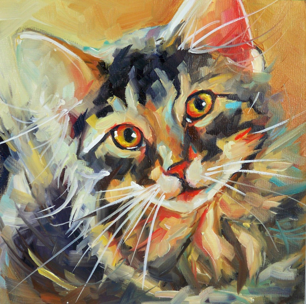 """Kitten Kaboodle"" original fine art by Olga Wagner"