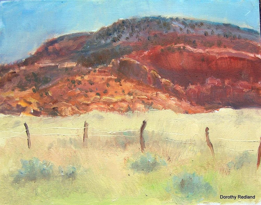 """Red Hills of home"" original fine art by Dorothy Redland"
