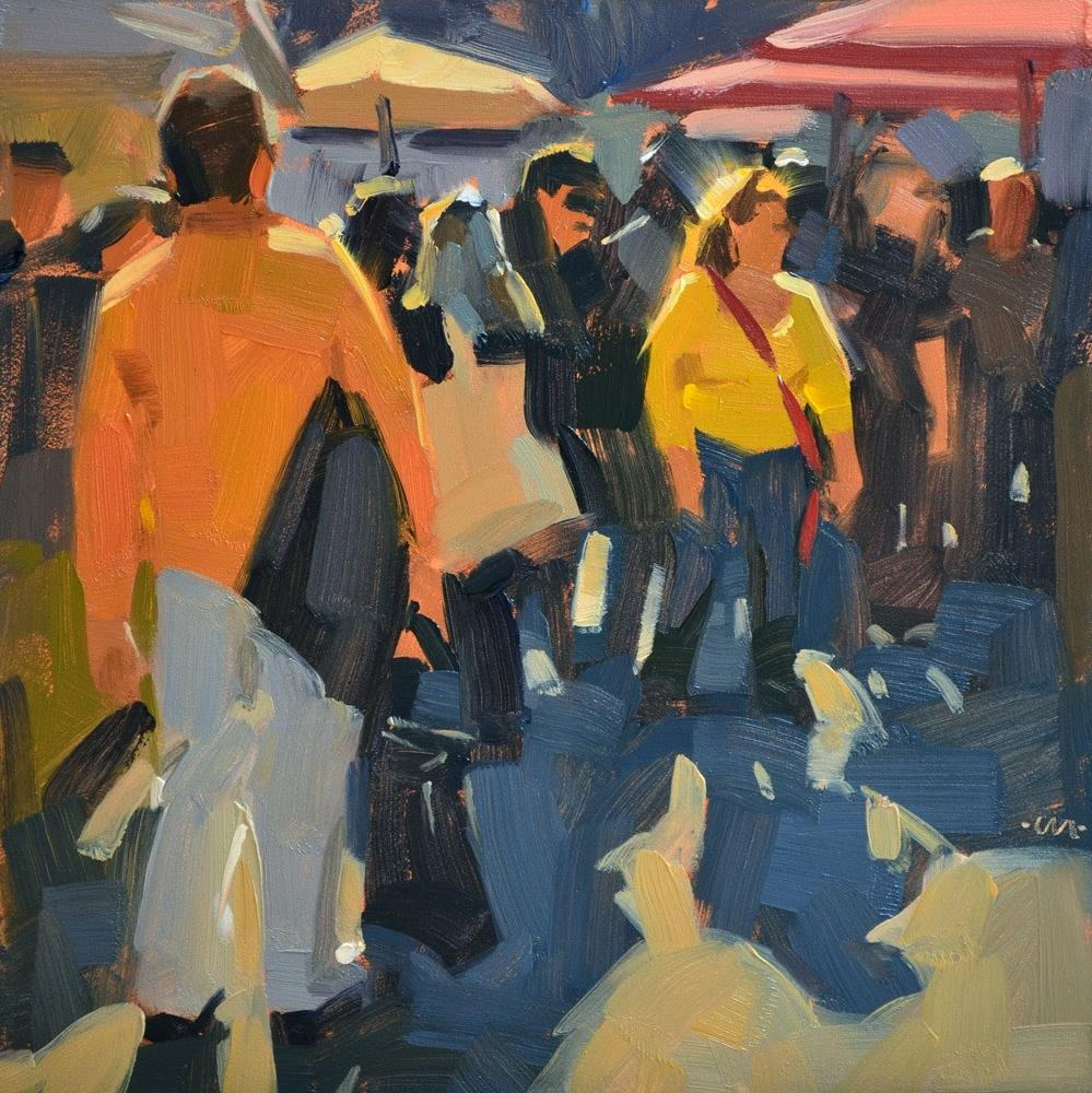 """Morning Market"" original fine art by Carol Marine"
