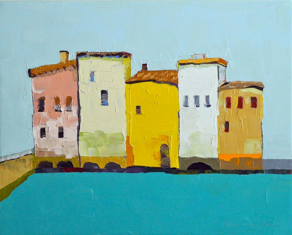 """Bright Row"" original fine art by Donna Walker"