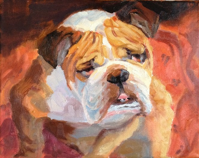 """Tank"" original fine art by Deborah Newman"