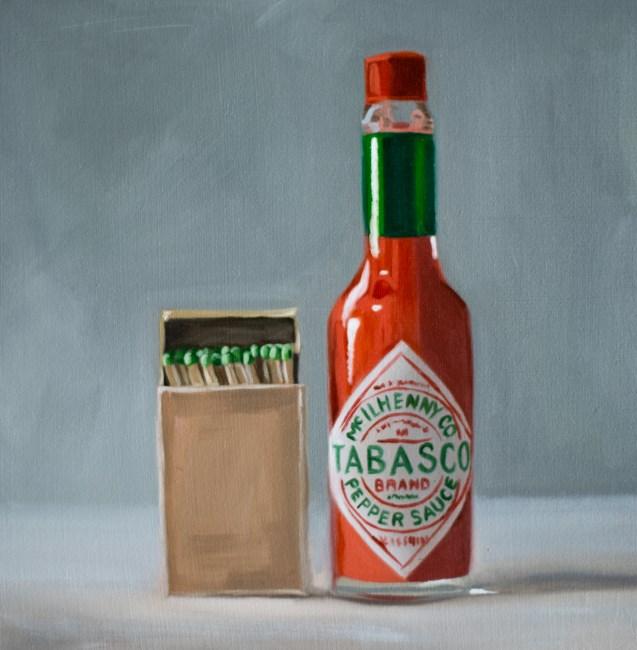 """Fiery Tabasco Sauce"" original fine art by Lauren Pretorius"