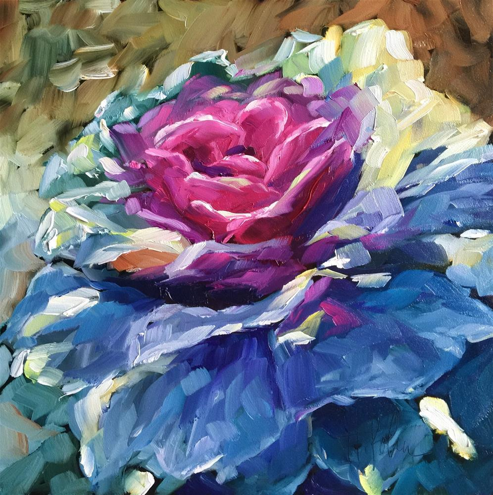 """Ornamental Kale"" original fine art by Hallie Kohn"