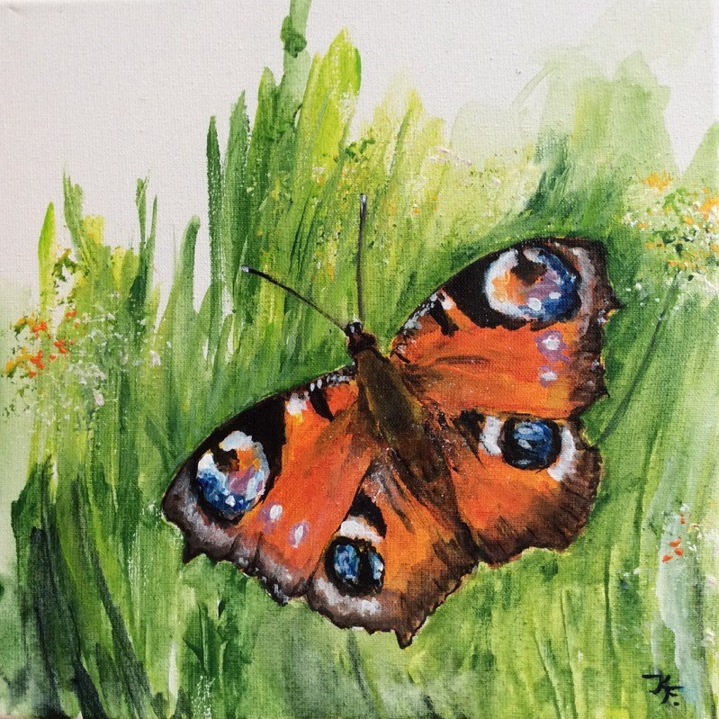 """Butterflies..."" original fine art by Klaudia Frieda"