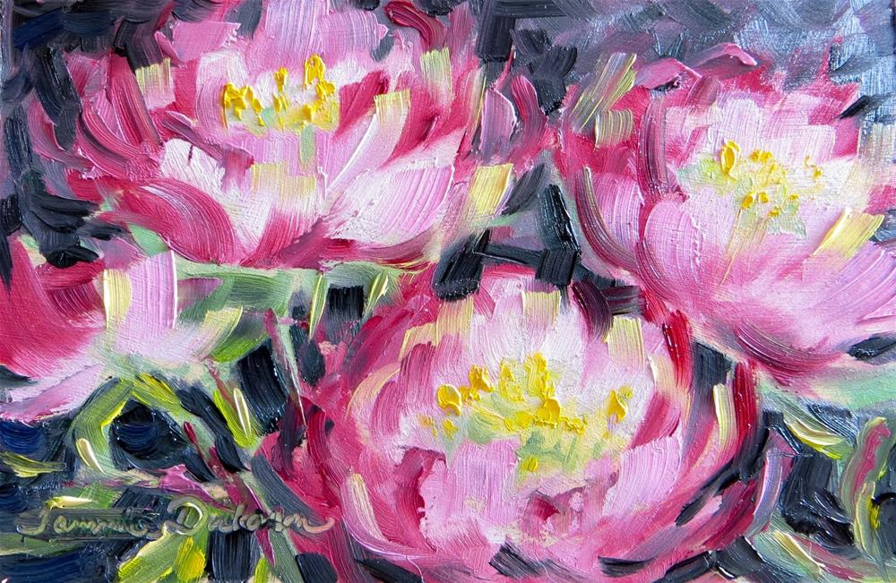 """Peonies in Red"" original fine art by Tammie Dickerson"