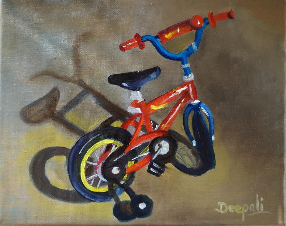 """Bicycle"" original fine art by Dipali Rabadiya"
