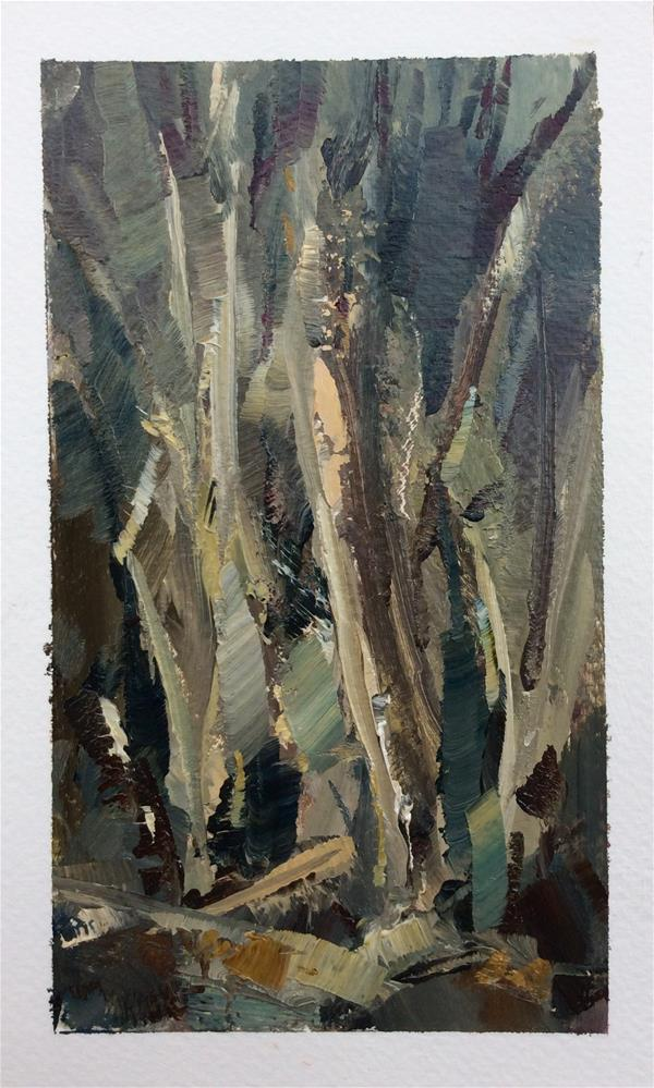 """Tangle Trees"" original fine art by Anne Wood"