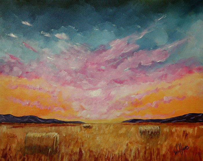 """Sunset over Monroe County"" original fine art by Sunny Williams"