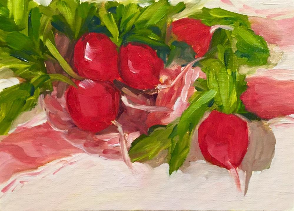 """Radish Plate"" original fine art by Renee Robison"